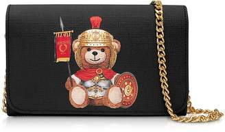 Moschino Teddy Bear Wallet Clutch w/Chain Strap