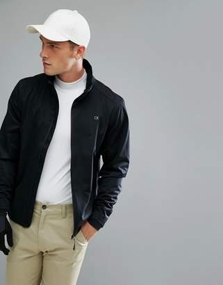 Calvin Klein Golf Waterproof Jacket In Black C9182