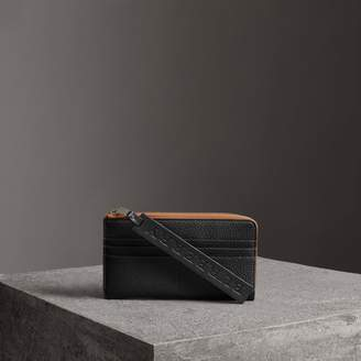 Burberry Grainy Leather Travel Wallet