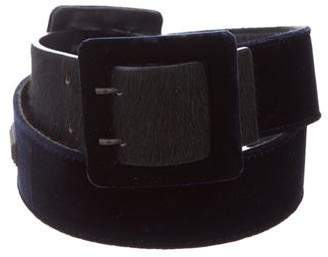 Gianfranco Ferre Velvet Buckle Belt
