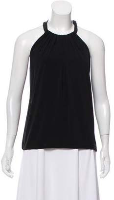 Rag & Bone Leather Accent Sleeveless Blouse