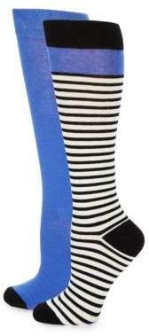Kate Spade Two-Pack Scuba Knee-High Socks