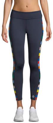 Tory Sport Checkered 7/8 Performance Leggings