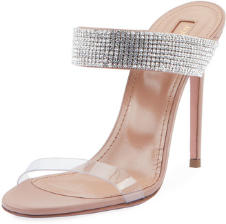 Aquazzura Spritz 105 Plexy Mule Sandals