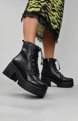 Koi Footwear Enclave Elastic Lace Boots Black