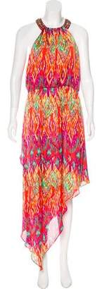 Laundry by Shelli Segal Printed Asymmetrical Dress