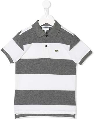 Lacoste Kids striped polo shirt