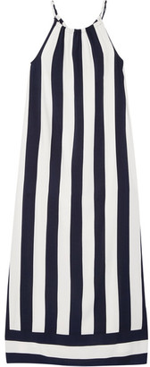 Splendid - Capistan Striped Voile Maxi Dress - Midnight blue $195 thestylecure.com