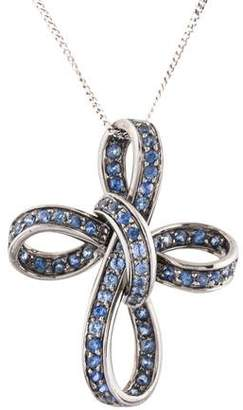 Andreoli 18K Sapphire Cross Pendant Necklace