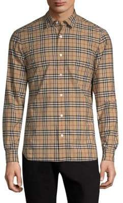 Burberry Alexander Check Button-Down Shirt