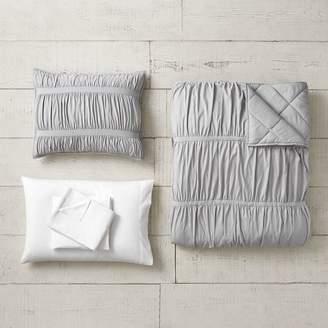Pottery Barn Teen Pucker Up Comforter Bundle, Twin/Twin XL, Gray