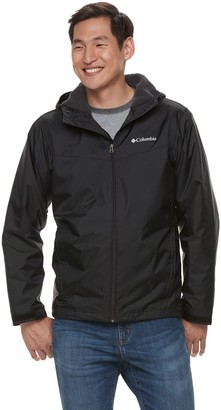 Columbia Men's Weather Drain Hooded Sherpa-Lined Rain Jacket
