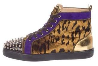 Christian Louboutin Lou Spikes Orlato Flat Sneakers