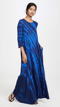 Raquel Allegra Tie Dye Drama Maxi Dress