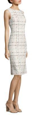 Lafayette 148 New York Jojo Stitch-Design Sleeveless Dress $598 thestylecure.com