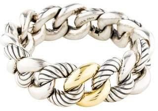 David Yurman Two-Tone Belmont Curb Link Bracelet