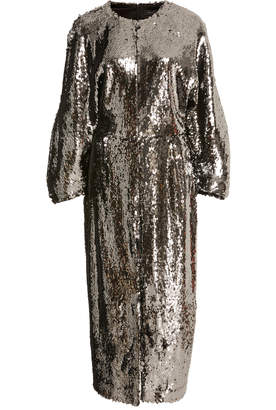 Sally LaPointe M'O Exclusive Stretch Sequin Dolman Sleeve Dress