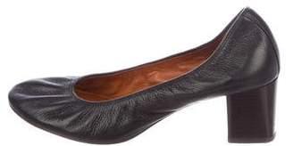 Lanvin Leather Round-Toe Pumps