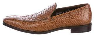 Salvatore Ferragamo Python Dress Loafers
