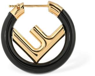 Fendi 250mm Small Logo Circle F Mono Earring