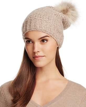Inverni Slouchy Beanie with Coyote Fur Pom-Pom - 100% Exclusive