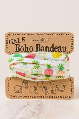 francesca's Boho Bandeau in Cream Pineapples - Cream