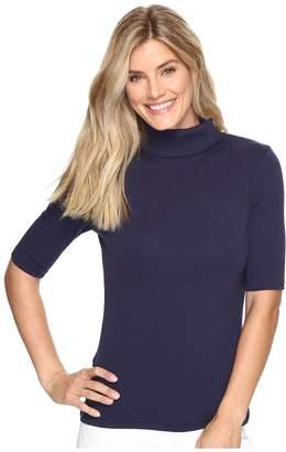 Lilla P Elbow Sleeve Turtleneck Women's Clothing