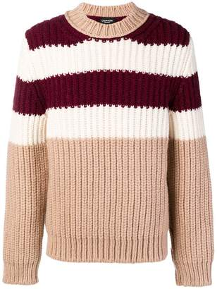 Calvin Klein striped chunky sweater