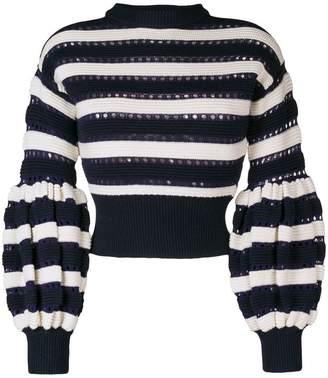 Self-Portrait puff sleeve sweater