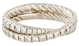 David Yurman Platinum Diamond Crossover Wedding Band