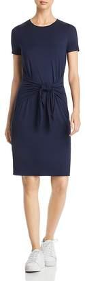 Three Dots Tie-Front Jersey T-Shirt Dress