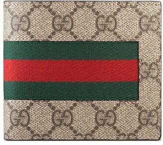 Gucci Web GG Supreme coin wallet