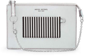 Henri Bendel Wristlet Iridescent Pouch On A Chain