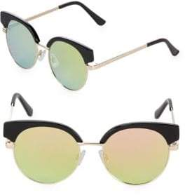 Fantas-Eyes Mirrored 48MM Clubmaster Sunglasses