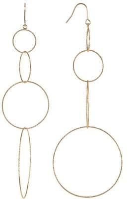 Panacea Textured Multi Hoop Drop Earrings