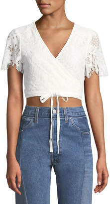 Lovers And Friends It's A Wrap Lace Crop Top