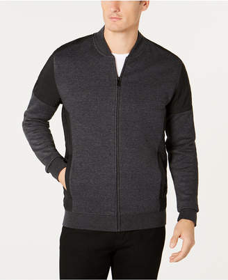 Alfani Men's Pieced Colorblocked Knit Moto Bomber Jacket