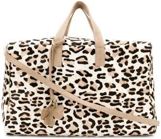 Danielapi leopard large tote bag