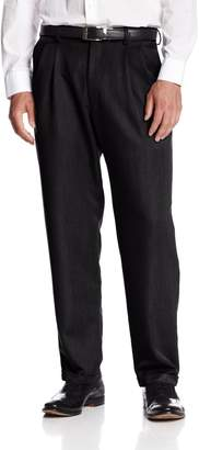 Haggar Men's Textured Stria Pleat Front Cuff Dress Pant