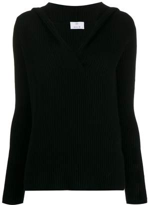 Allude ribbed V-neck sweater