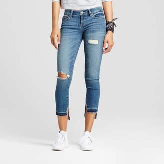 Dollhouse Women's Destructed Step Hem Skinny Jeans - Dollhouse® (Juniors') $32.99 thestylecure.com