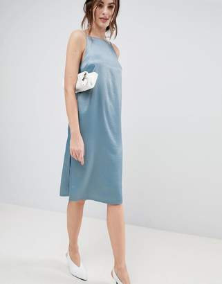 Asos DESIGN Square Neck Midi Slip Dress