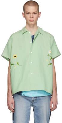 Bode Green Daisies Bowling Shirt