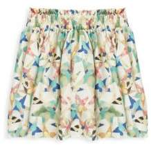 Stella McCartney Little Girl's & Girl's Nat Star-Print Silk Skirt