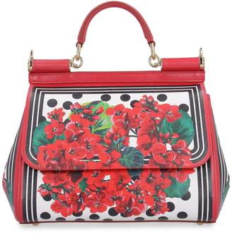 Dolce & Gabbana Sicily Printed Calf Skin Handbag