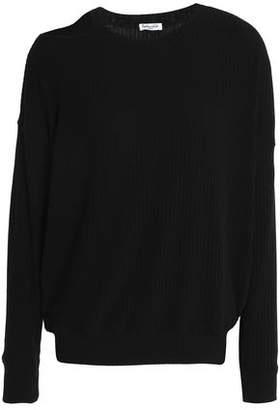 Splendid Cutout Ribbed-Knit Sweater
