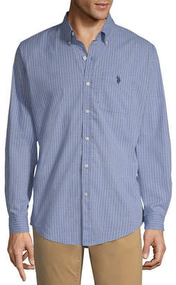 U.S. Polo Assn. USPA Long Sleeve Plaid Button-Front Shirt