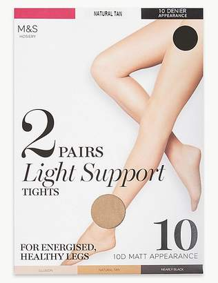 Marks and Spencer 2 Pair Pack 10 Denier Tights