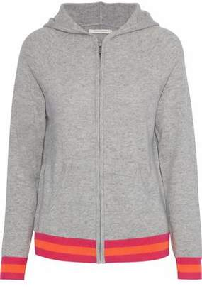 Chinti and Parker Striped Mélange Cashmere Hoodie