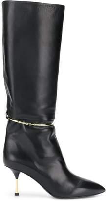 Jil Sander metal hoop tall boots